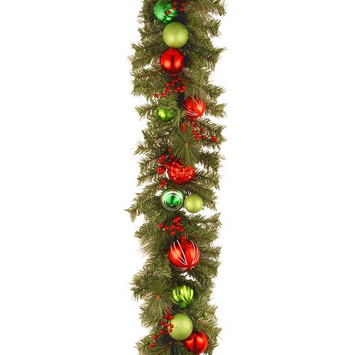 National Tree Company 6 ft. Artificial Red and Green Garland
