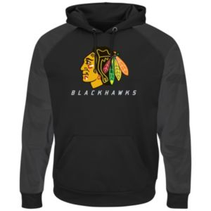Men's Majestic Chicago Blackhawks Penalty Shots Pullover Hoodie