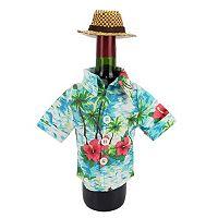 Celebrate Summer Together Tropical Shirt Wine Bottle Cover