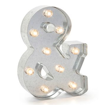Darice Silver Lighted Marquee Ampersand