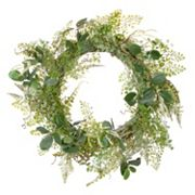 Darice 24 in Artificial Green Fern Foliage Wreath