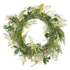 Darice 24 in Artificial Green Fern Foliage Wreath