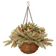 National Tree Company Pre-Lit Artificial Dunhill Fir Hanging Basket