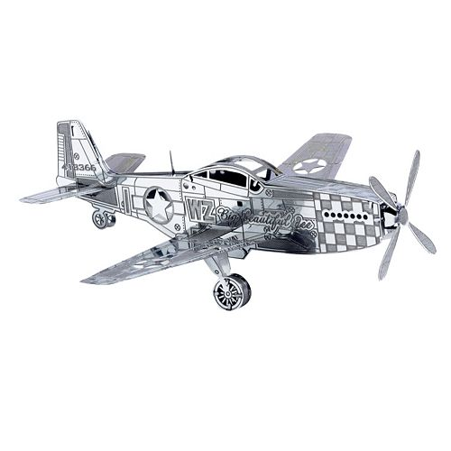 Metal Earth 3D Laser Cut Model P-51 Mustang Kit by Fascinations