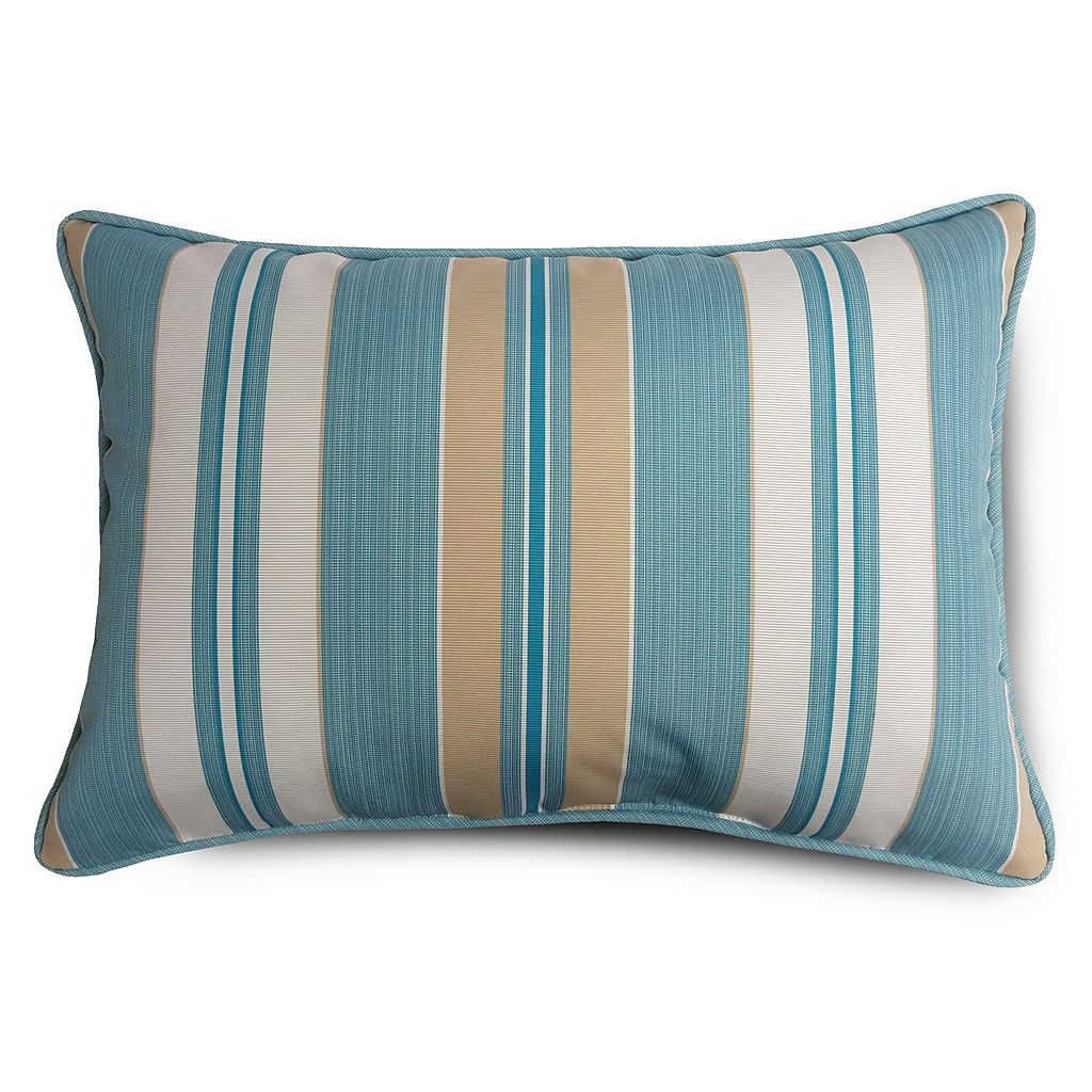 SONOMA Goods for Life™ Suntastic 1000 Striped Indoor Outdoor Reversible Oblong Throw Pillow