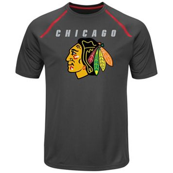 Men's Majestic Chicago Blackhawks Toe Drag Tee