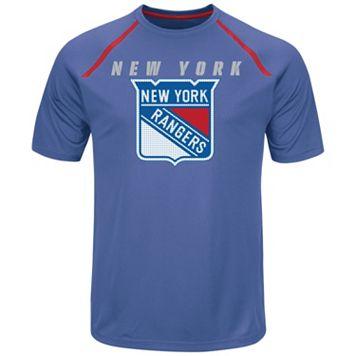 Men's Majestic New York Rangers Toe Drag Tee