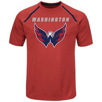 Men's Majestic Washington Capitals Toe Drag Tee