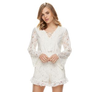 Disney's Beauty and the Beast Juniors' Bell Sleeve Lace Romper