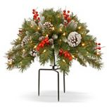 National Tree Company 18-in. Pre-Lit Artificial Pine & Berry Filler Decor