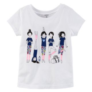 Girls 4-8 Carter's Short Sleeve Yoga Girl Graphic Tee