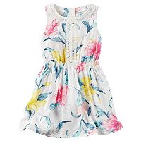 Girls 4-8 Carter's Floral Embroidered Dress