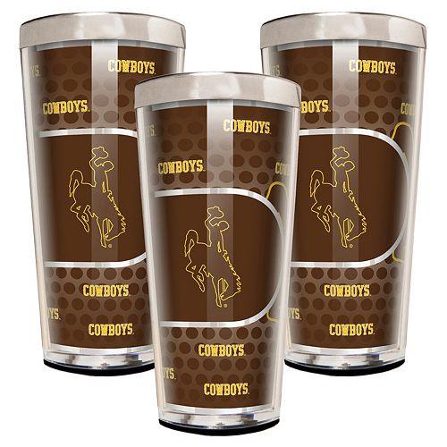 Wyoming Cowboys 3-Piece Shot Glass Set