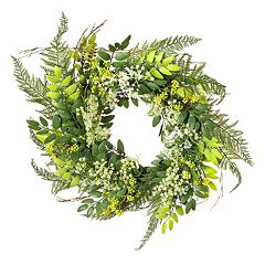Click here to buy Darice Artificial Baby Breath & Twig Wreath .
