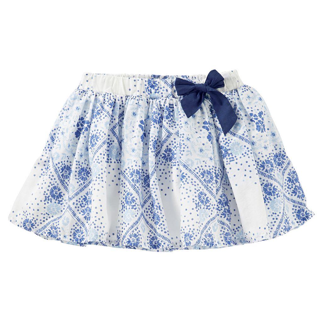 Girls 4-8 OshKosh B'gosh® Floral Bow Skirt