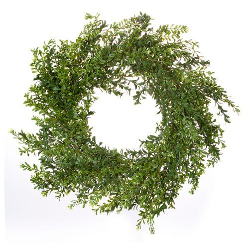 Darice 24-in. Artificial Green Boxwood Wreath