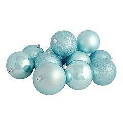 Light Blue Ball Christmas Ornament 32 pc Set