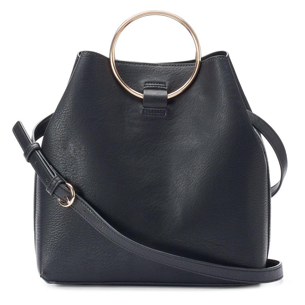 LC Lauren Conrad Ring Large Bucket Bag