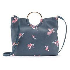 LC Lauren Conrad Ring Convertible Crossbody Bag
