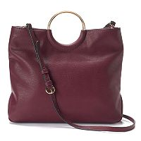 LC Lauren Conrad Ring Convertible Crossbody Bag