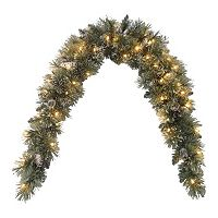 National Tree Company 6-ft. Pre-Lit Artificial Pine Glitter Mantel Wall Decor