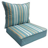 SONOMA Goods for Life™ 2-piece Suntastic 1000 Striped Indoor Outdoor Reversible Deep Seat Cushion Set