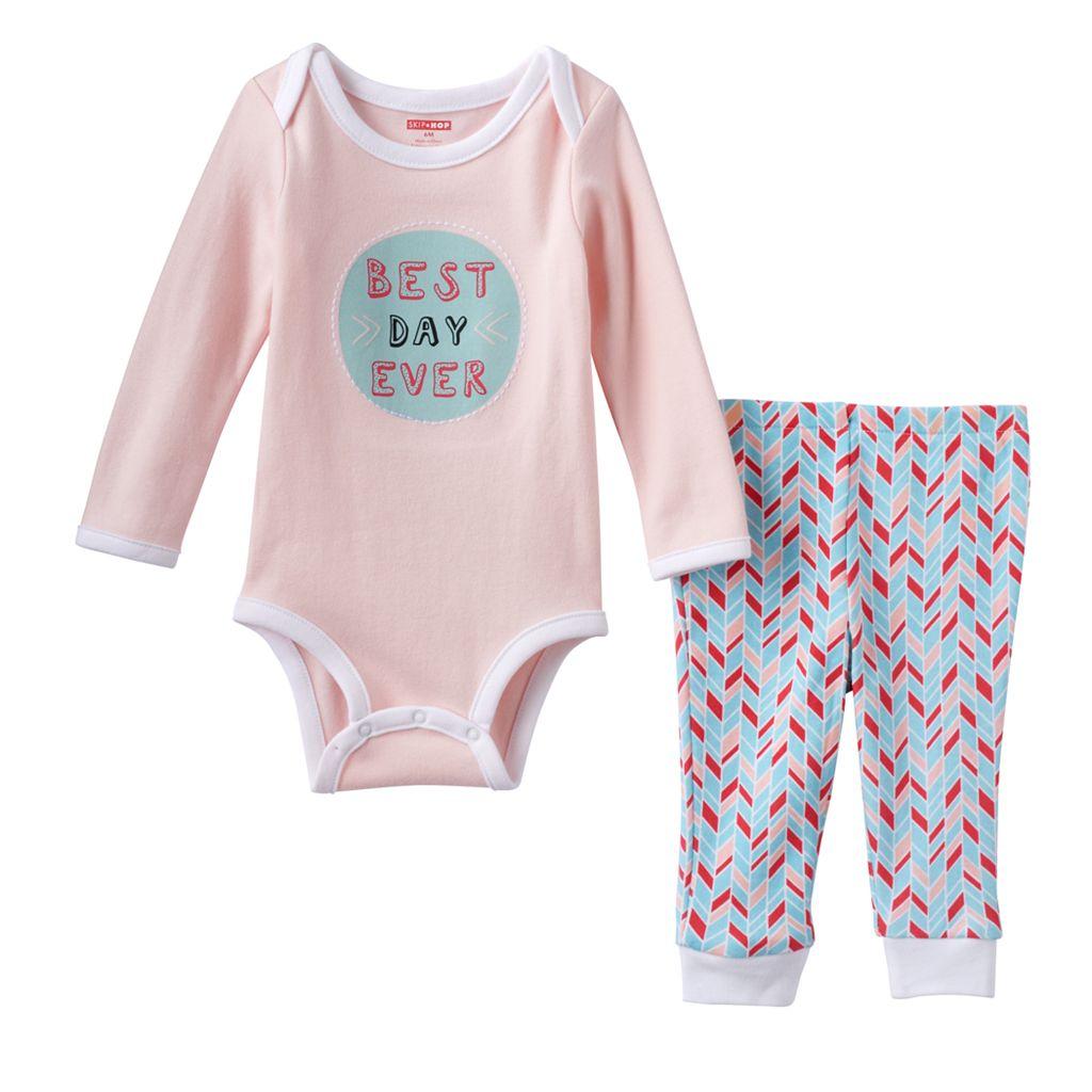 Baby Girl Skip Hop Graphic Bodysuit & Pants Set