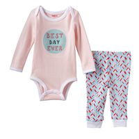 Baby Girl Skip Hop Graphic Bodysuit & Pants Set