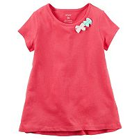 Girls 4-6x Carter's Short Sleeve Bow Embellished Tee