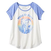 Girls 7-16 & Plus Size Mudd® Raglan Stitched Tee