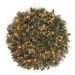 National Tree Company 16-in. Pre-Lit Artificial Pine Glitter Kissing Ball Wall Decor