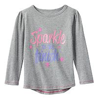 Toddler Girl Champion Long Sleeve Droptail Graphic Tee