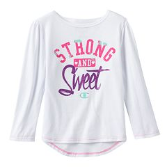 Girls 4-6x Champion Long Sleeve Droptail Graphic Tee