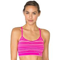RBX Bras: Medium-Impact Seamless Striped Sports Bra CR434A