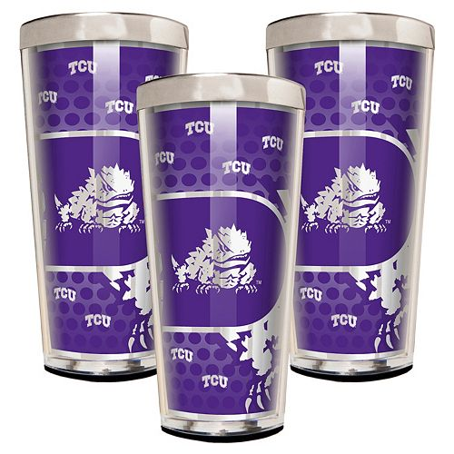 TCU Horned Frogs 3-Piece Shot Glass Set