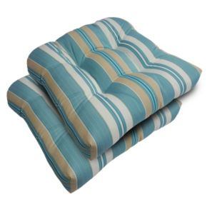 SONOMA Goods for Life? 2-piece Suntastic 1000 Striped Indoor Outdoor Reversible ''U'' Chair Cushion Set