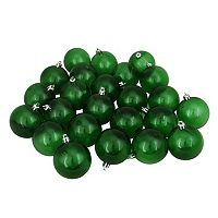 Transparent Green Shatterproof Ball Christmas Ornament 60-piece Set