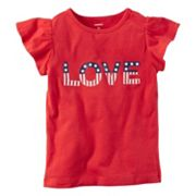 Girls 4-8 Carter's 'LOVE' American Flag Graphic Tee