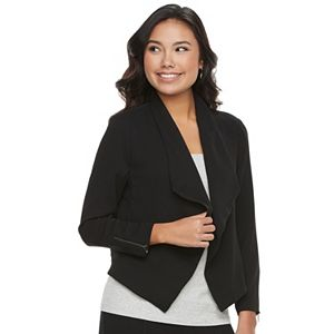 Juniors' Candie's® Draped Open-Front Jacket
