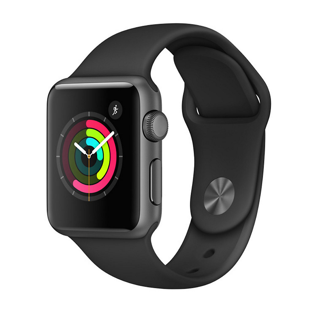 Apple Watch Series 1 (38mm Space Gray Aluminum with Black Sport Band)