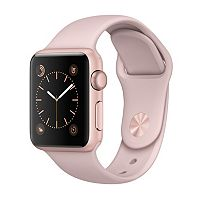 Apple Watch Series 1 (38mm Rose Gold Tone Aluminum with Pink Sand Sport Band)