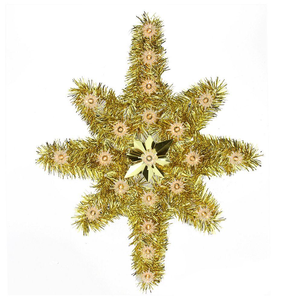 Pre Lit Tinsel Star Christmas Tree Topper