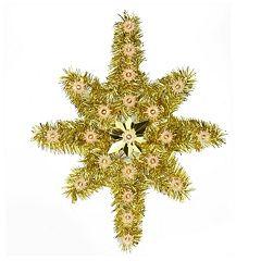 Pre-Lit Tinsel Star Christmas Tree Topper