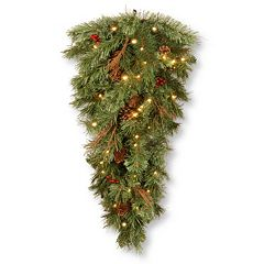 National Tree Company Pre-Lit Artificial Pine Hanging Wall Decor