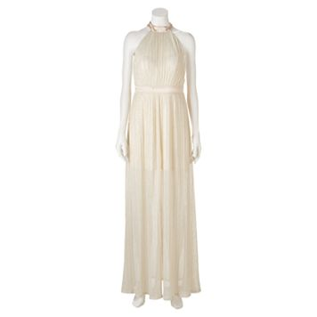 Juniors' Trixxi Glitter Halter Gown