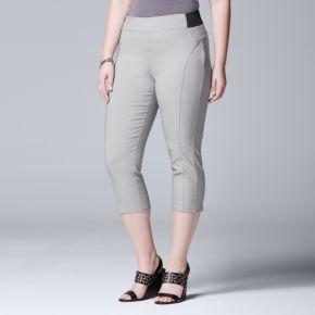 Plus Size Simply Vera Vera Wang Twill Capris