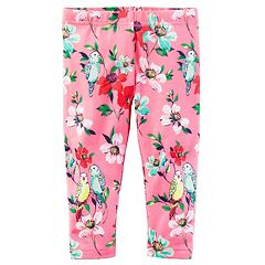 Girls 4-8 Carter's Bird & Floral Leggings