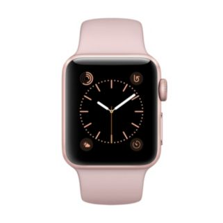 Apple Watch Series 2 (38mm Rose Gold Tone Aluminum with Pink Sand Sport Band)
