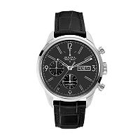 Bulova Men's Accu Swiss Automatic Leather Watch - 63C115
