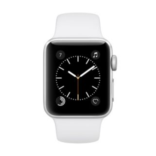 Apple Watch Series 2 (38mm Silver Tone Aluminum with White Sport Band)
